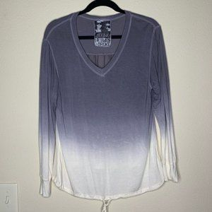 Young fabulous and broke grey ombré tie dye top